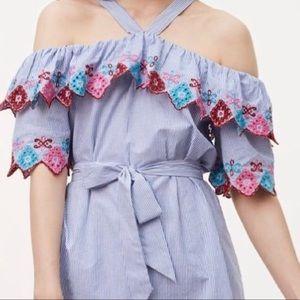 Loft Off the shoulder fiesta dress